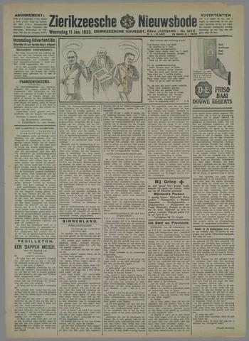 Zierikzeesche Nieuwsbode 1933-01-11