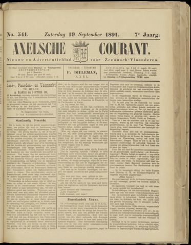 Axelsche Courant 1891-09-19