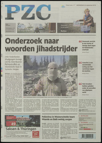 Provinciale Zeeuwse Courant 2014-09-24