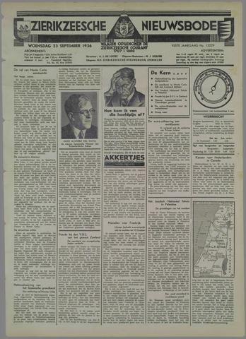 Zierikzeesche Nieuwsbode 1936-09-23