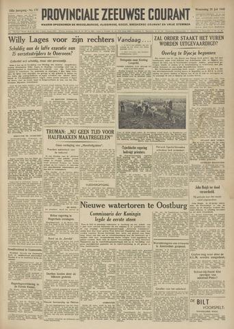 Provinciale Zeeuwse Courant 1949-07-20