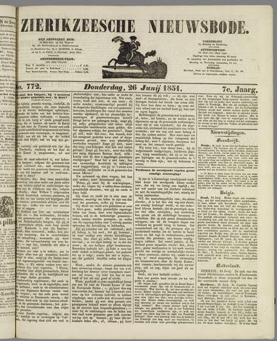 Zierikzeesche Nieuwsbode 1851-06-26