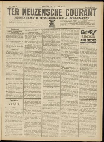 Ter Neuzensche Courant. Algemeen Nieuws- en Advertentieblad voor Zeeuwsch-Vlaanderen / Neuzensche Courant ... (idem) / (Algemeen) nieuws en advertentieblad voor Zeeuwsch-Vlaanderen 1939-03-01