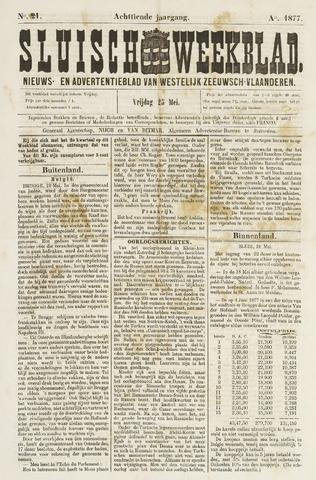 Sluisch Weekblad. Nieuws- en advertentieblad voor Westelijk Zeeuwsch-Vlaanderen 1877-05-25