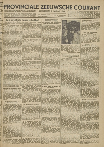 Provinciale Zeeuwse Courant 1944-01-06