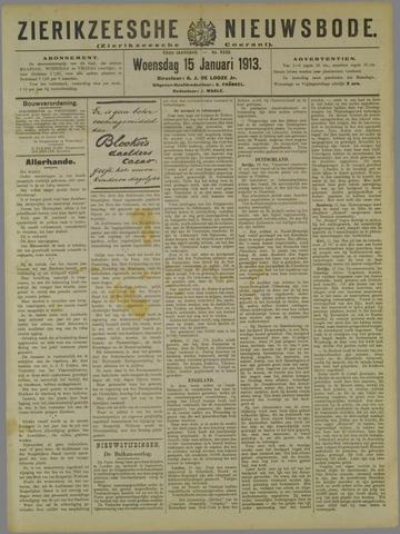 Zierikzeesche Nieuwsbode 1913-01-15