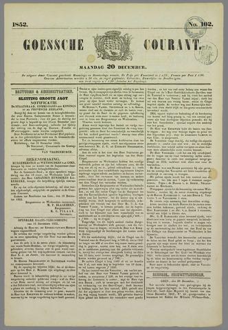 Goessche Courant 1852-12-20
