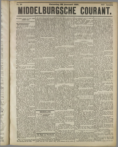 Middelburgsche Courant 1921-01-29