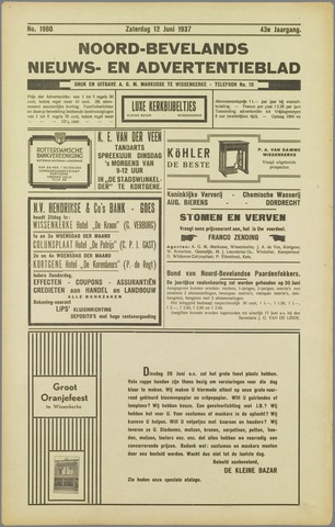 Noord-Bevelands Nieuws- en advertentieblad 1937-06-12