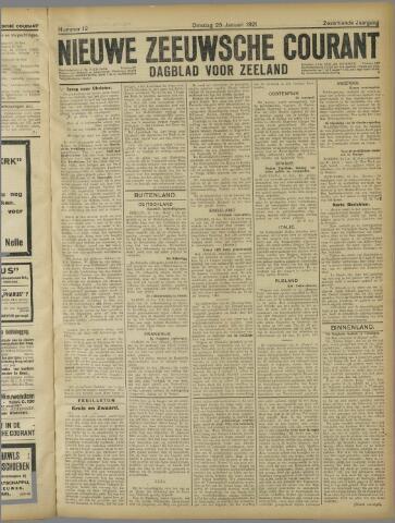 Nieuwe Zeeuwsche Courant 1921-01-25