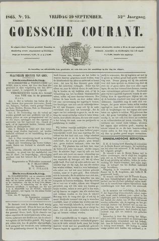 Goessche Courant 1865-09-29