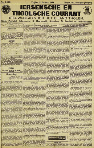 Ierseksche en Thoolsche Courant 1931-10-02