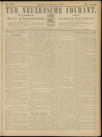 Ter Neuzensche Courant. Algemeen Nieuws- en Advertentieblad voor Zeeuwsch-Vlaanderen / Neuzensche Courant ... (idem) / (Algemeen) nieuws en advertentieblad voor Zeeuwsch-Vlaanderen 1912-09-21