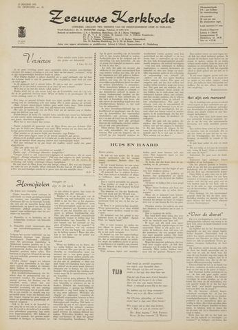 Zeeuwsche kerkbode, weekblad gewijd aan de belangen der gereformeerde kerken/ Zeeuwsch kerkblad 1970-01-15