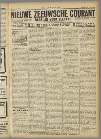 Nieuwe Zeeuwsche Courant 1922-08-08