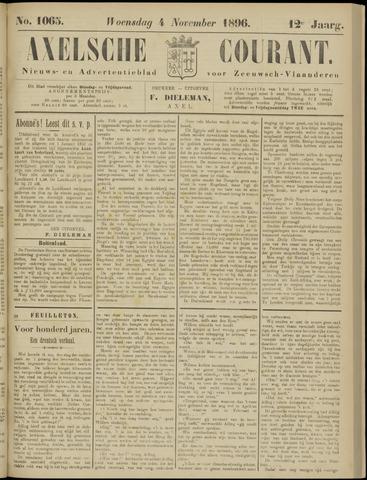 Axelsche Courant 1896-11-04