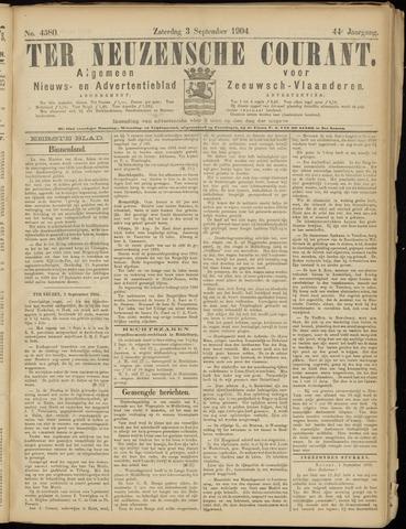 Ter Neuzensche Courant. Algemeen Nieuws- en Advertentieblad voor Zeeuwsch-Vlaanderen / Neuzensche Courant ... (idem) / (Algemeen) nieuws en advertentieblad voor Zeeuwsch-Vlaanderen 1904-09-03