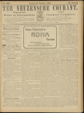 Ter Neuzensche Courant. Algemeen Nieuws- en Advertentieblad voor Zeeuwsch-Vlaanderen / Neuzensche Courant ... (idem) / (Algemeen) nieuws en advertentieblad voor Zeeuwsch-Vlaanderen 1912-09-28