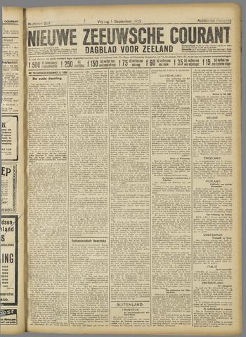 Nieuwe Zeeuwsche Courant 1922-09-01