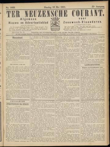 Ter Neuzensche Courant. Algemeen Nieuws- en Advertentieblad voor Zeeuwsch-Vlaanderen / Neuzensche Courant ... (idem) / (Algemeen) nieuws en advertentieblad voor Zeeuwsch-Vlaanderen 1911-05-16