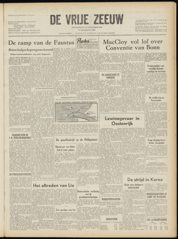 de Vrije Zeeuw 1952-11-13