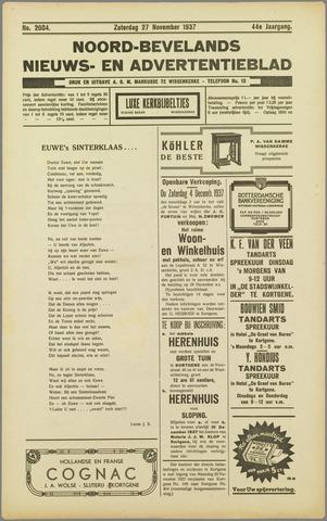 Noord-Bevelands Nieuws- en advertentieblad 1937-11-27
