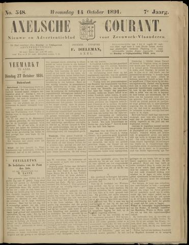 Axelsche Courant 1891-10-14