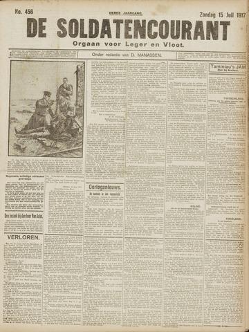 De Soldatencourant. Orgaan voor Leger en Vloot 1917-07-15