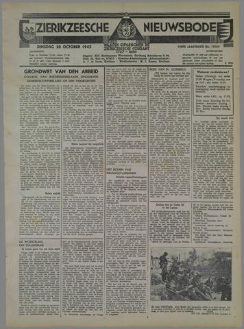 Zierikzeesche Nieuwsbode 1942-10-20