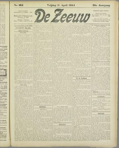 De Zeeuw. Christelijk-historisch nieuwsblad voor Zeeland 1924-04-11