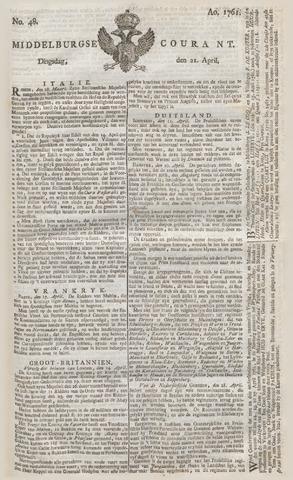 Middelburgsche Courant 1761-04-21