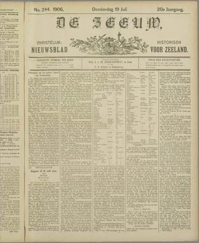 De Zeeuw. Christelijk-historisch nieuwsblad voor Zeeland 1906-07-19