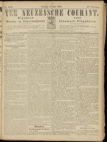 Ter Neuzensche Courant. Algemeen Nieuws- en Advertentieblad voor Zeeuwsch-Vlaanderen / Neuzensche Courant ... (idem) / (Algemeen) nieuws en advertentieblad voor Zeeuwsch-Vlaanderen 1904-07-12