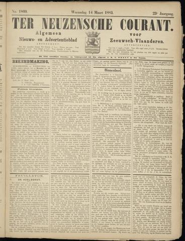Ter Neuzensche Courant. Algemeen Nieuws- en Advertentieblad voor Zeeuwsch-Vlaanderen / Neuzensche Courant ... (idem) / (Algemeen) nieuws en advertentieblad voor Zeeuwsch-Vlaanderen 1883-03-14