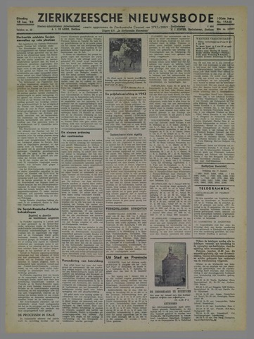 Zierikzeesche Nieuwsbode 1944-01-18