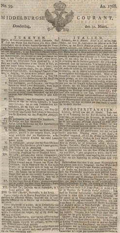Middelburgsche Courant 1768-03-31