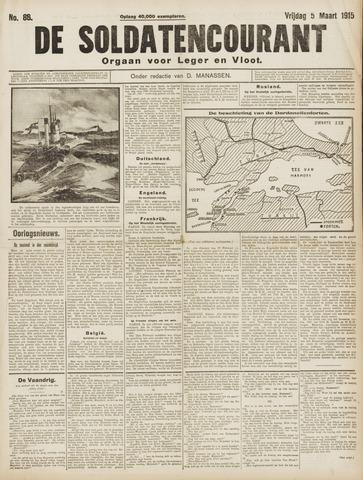 De Soldatencourant. Orgaan voor Leger en Vloot 1915-03-05