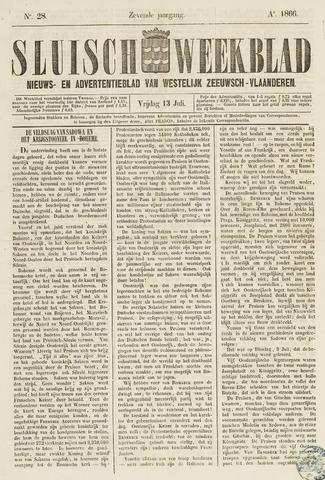 Sluisch Weekblad. Nieuws- en advertentieblad voor Westelijk Zeeuwsch-Vlaanderen 1866-07-13