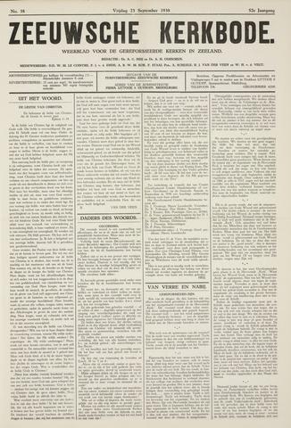Zeeuwsche kerkbode, weekblad gewijd aan de belangen der gereformeerde kerken/ Zeeuwsch kerkblad 1938-09-23