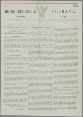 Middelburgsche Courant 1854-04-29