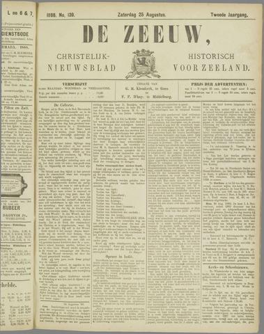 De Zeeuw. Christelijk-historisch nieuwsblad voor Zeeland 1888-08-25