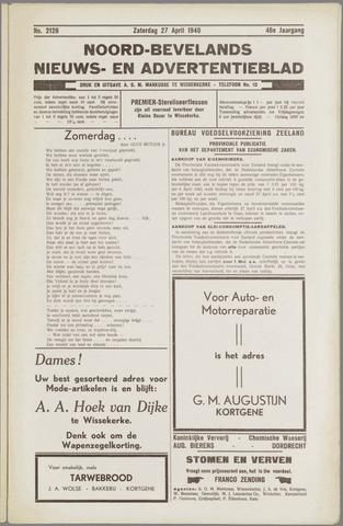Noord-Bevelands Nieuws- en advertentieblad 1940-04-27