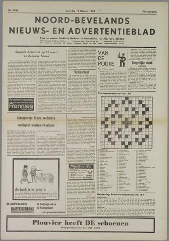 Noord-Bevelands Nieuws- en advertentieblad 1968-02-10