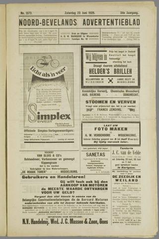 Noord-Bevelands Nieuws- en advertentieblad 1928-06-23