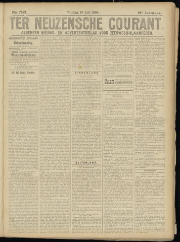 Ter Neuzensche Courant. Algemeen Nieuws- en Advertentieblad voor Zeeuwsch-Vlaanderen / Neuzensche Courant ... (idem) / (Algemeen) nieuws en advertentieblad voor Zeeuwsch-Vlaanderen 1924-07-18