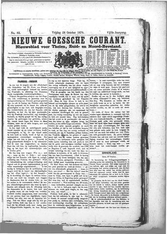 Nieuwe Goessche Courant 1870-10-28