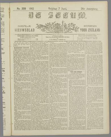 De Zeeuw. Christelijk-historisch nieuwsblad voor Zeeland 1912-06-07