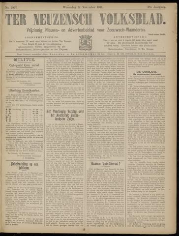 Ter Neuzensch Volksblad. Vrijzinnig nieuws- en advertentieblad voor Zeeuwsch- Vlaanderen / Zeeuwsch Nieuwsblad. Nieuws- en advertentieblad voor Zeeland 1917-11-14