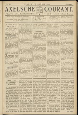 Axelsche Courant 1933-11-17