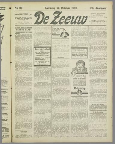 De Zeeuw. Christelijk-historisch nieuwsblad voor Zeeland 1924-10-25